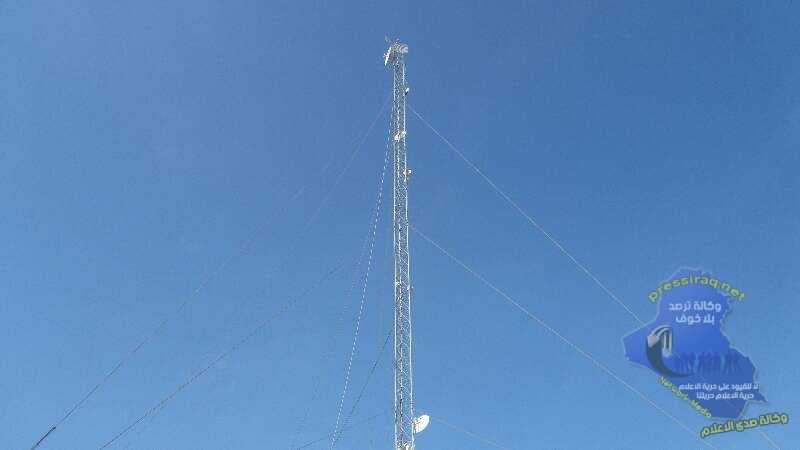 iraqi Aviation destroyed an Internet tower related to Daesh south of Mosul